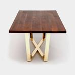 GAX X 36 Table // Walnut + Brass