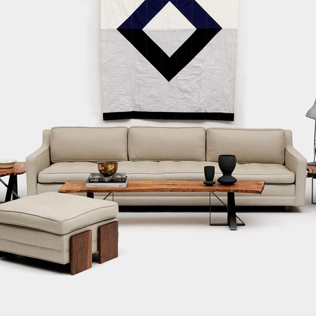Up Three Seater + Ottoman // Hopsack