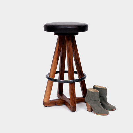 X3 Stool Walnut (Blackbean)
