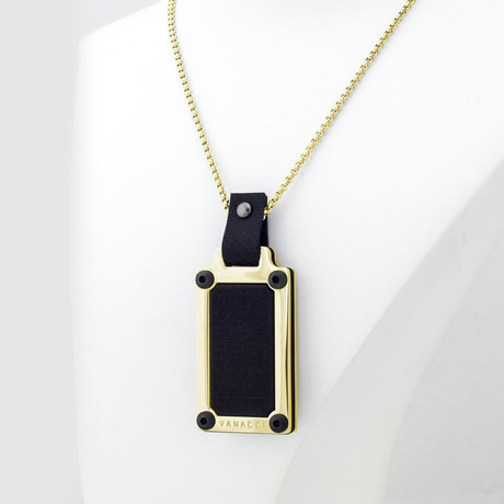 Black Forge Pendant (24 Carat Gold Plated)