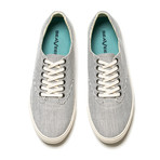 Hermosa Plimsoll Seersucker // Midnight Stripe (US: 9)