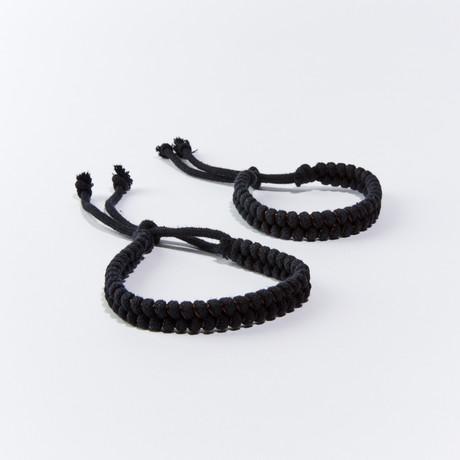 MosquitNo Nano-Tech Woven Bracelet // Set of 2 (Black)