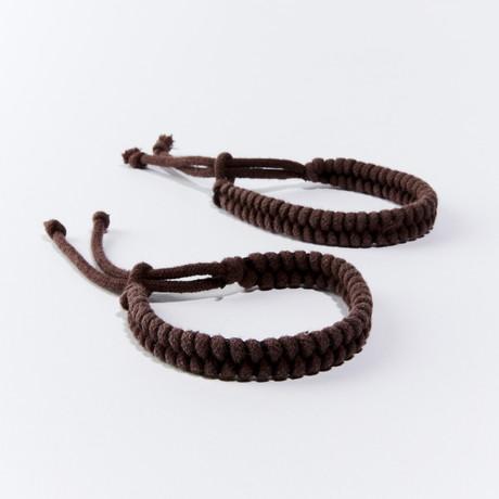 MosquitNo Nano-Tech Woven Bracelet // Set of 2 (Brown)