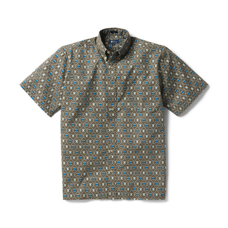Royal Honu Button Front // Major Brown (XS)