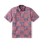 Ocean's Playground Short Sleeve Button-Up // Ink (3XL)
