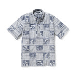 Ocean's Playground Short Sleeve Button-Up // Twilight Blue (XS)