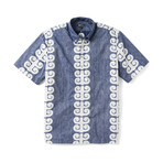 Stack-A-Tapa Short Sleeve Button-Up // Twilight Blue (XS)