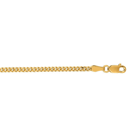 "Solid 10K Yellow Gold Diamond Cut Gourmette Chain Necklace // 2.0mm (24"")"