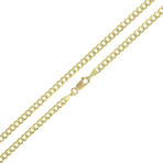 "Solid 10K Yellow Gold Comfort Curb Cuban Necklace // 3.2mm (20"" // 6.6g)"