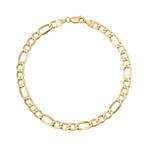 Solid 10K Yellow Gold Figaro Chain Bracelet // 5.4mm