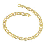 Solid 10K Yellow Gold Mariner Link Bracelet // 5mm