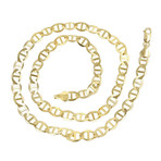 Solid 10K Yellow Gold Mariner Link Chain Necklace // 5mm