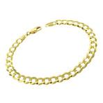 Solid 10K Yellow Gold Comfort Curb Cuban Bracelet // 5.7mm