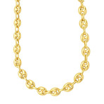 "Solid 14K Yellow Gold Puffed Mariner Link Necklace // 4.7mm (18"")"