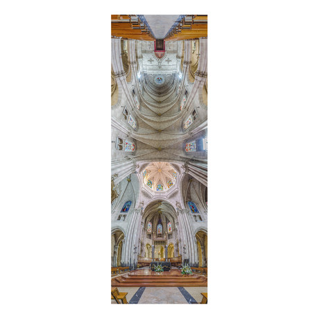 "Basilica San Vincente Ferrer, Valencia, Spain (4""W x 12""H x 0.5""D)"