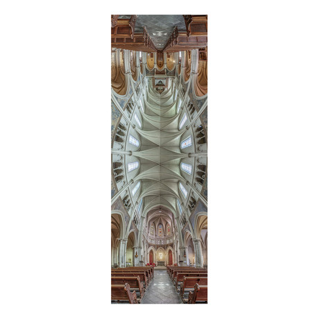 "Eglise Saint Joseph Artisan, Paris, France (4""W x 12""H x 0.5""D)"