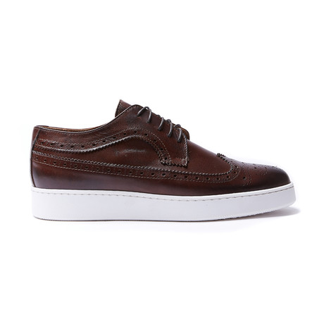 Wing Cap Sneaker // Dark Brown (Euro: 40)