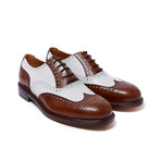 Wing Cap Oxford Goodyear // Brown + White (Euro: 42)