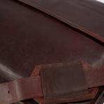Leather Crossbody Messenger Bag // Medium Brown