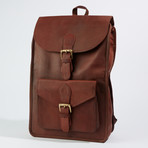 Rustic Leather Backpack // Brown