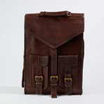 Leather Crossbody Sling Bag // Chestnut Brown