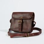 Leather Crossbody Sling Bag I // Chestnut Brown