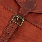 Leather Crossbody Sling Bag II // Chestnut Brown