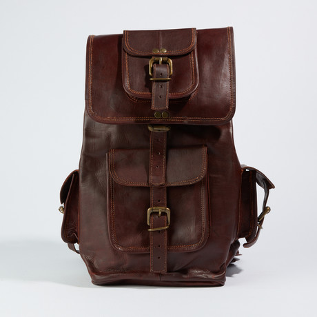 Traveler Backpack // Chestnut Brown