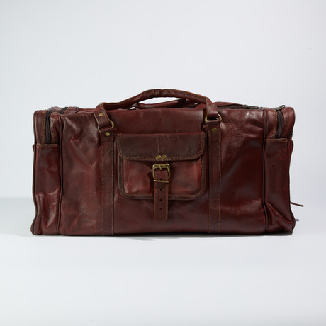 Traveler Duffle Bag // Chestnut Brown