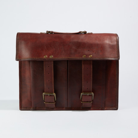 Satchel Leather Messenger Bag // Dark Brown