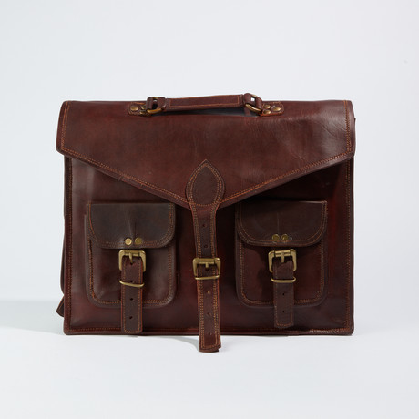 Large Messenger Bag // Chestnut Brown
