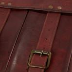 Satchel Leather Messenger Bag // Dark Brown