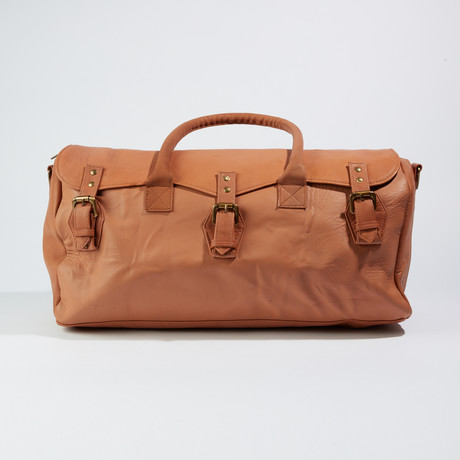 The Weekender Duffle Bag // Medium Brown