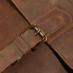 Crossbody Sling Messenger Briefcase bag // Dark Brown