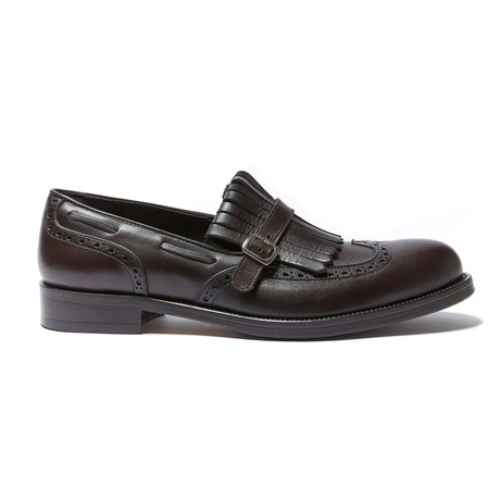 Monk Strap Loafer // Dark Brown (Euro: 40)