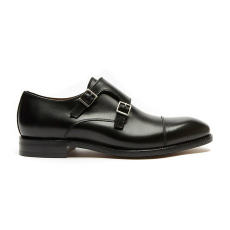 Toe Cap Monk Strap Goodyear // Black (Euro: 40)