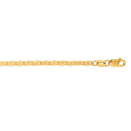 Solid 10K Yellow Gold Mariner Link Necklace // 2.3mm