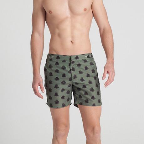 African Lotus Swim Shorts (S)