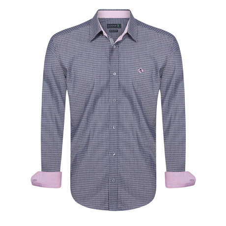 Albatross Shirt // Gray + Pink (XS)