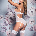 Valerie Bridal Teddy // White (M-L)