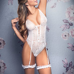 Carrie Bridal Teddy // White (S-M)