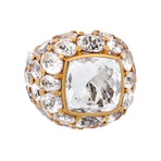 Mimi Milano 18k Two-Tone Gold Rock Crystal Ring // Ring Size: 6.75