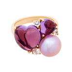 Mimi Milano 18k Rose Gold Multi-Stone Ring IV // Ring Size: 7