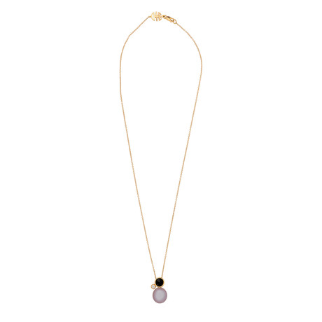 Mimi Milano 18k Rose Gold Multi-Stone Pendant Necklace III