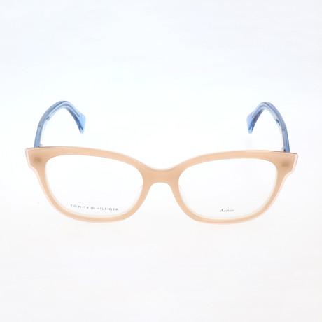 Women's 1439-L6Y Optical Frames // Yellow + Ivory + Blue