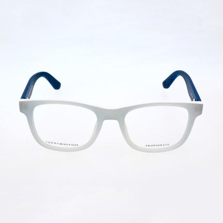 Unisex 1314-LWA Optical Frames // Crystal White + Blue