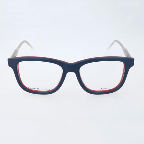 Men's 1353-K0H Optical Frames // Blue + Red + White