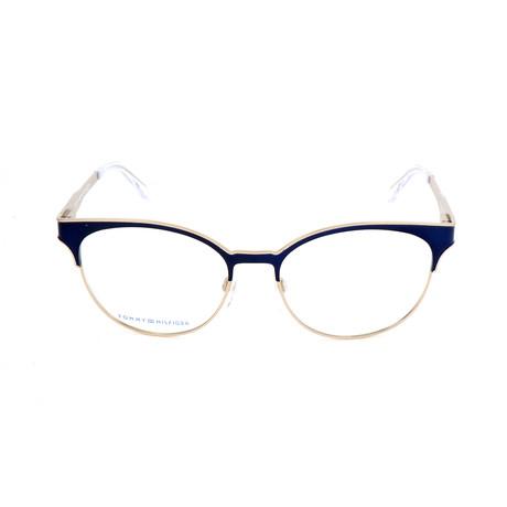 Women's 1359-K20 Optical Frames // Light Gold + Blue