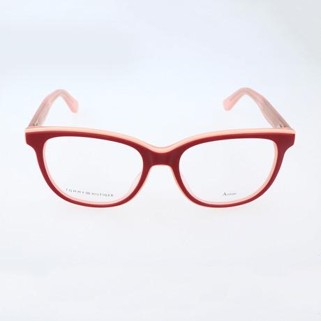 Women's 1355-K1C Optical Frames // Burgundy + Peach