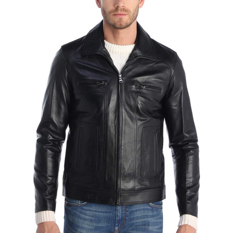 Ashbury Leather Jacket // Black (XS)